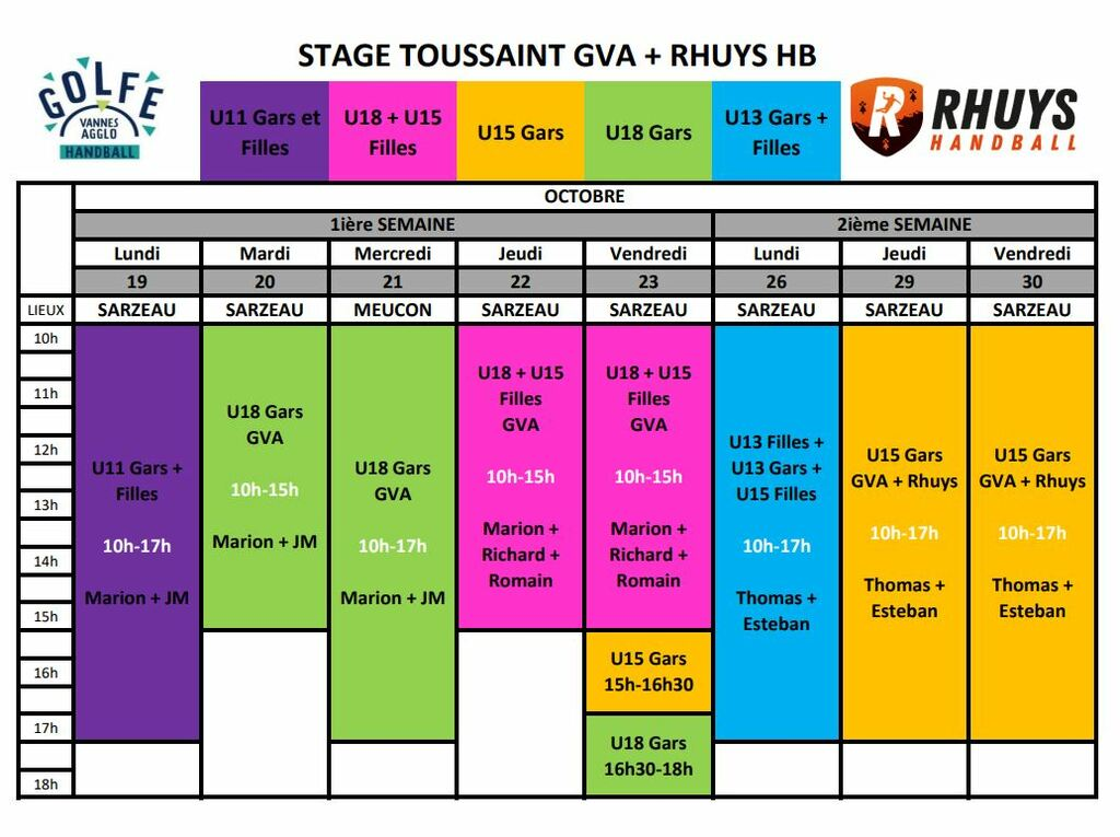 Stages Toussaint